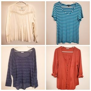 4pc Womens Tops Size L (Maurices, Cable & …